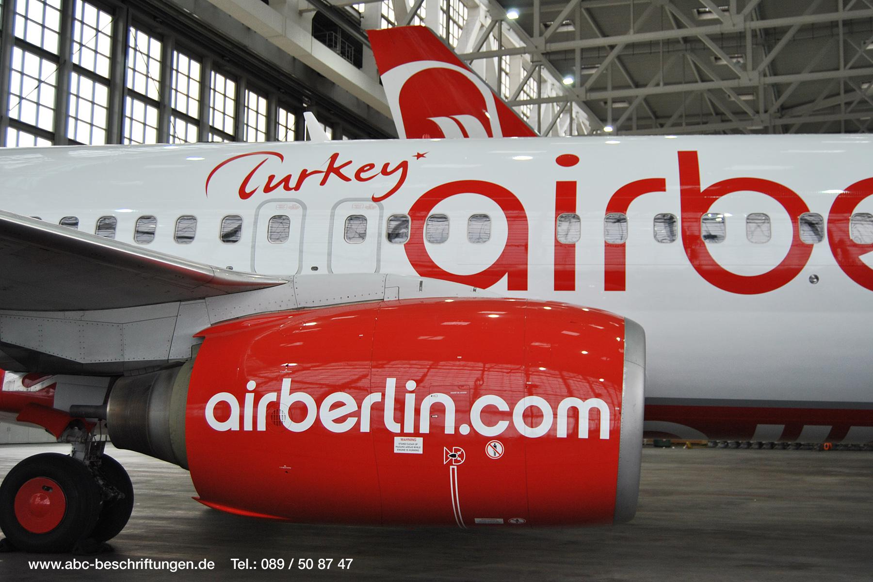 """Airberlin """"Turkey""""   ABC Beschriftungsbedarf GmbH München"""